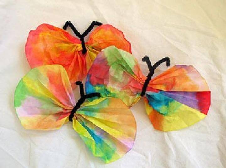 Handcrafted Coffee Filter Colorful Butterflies