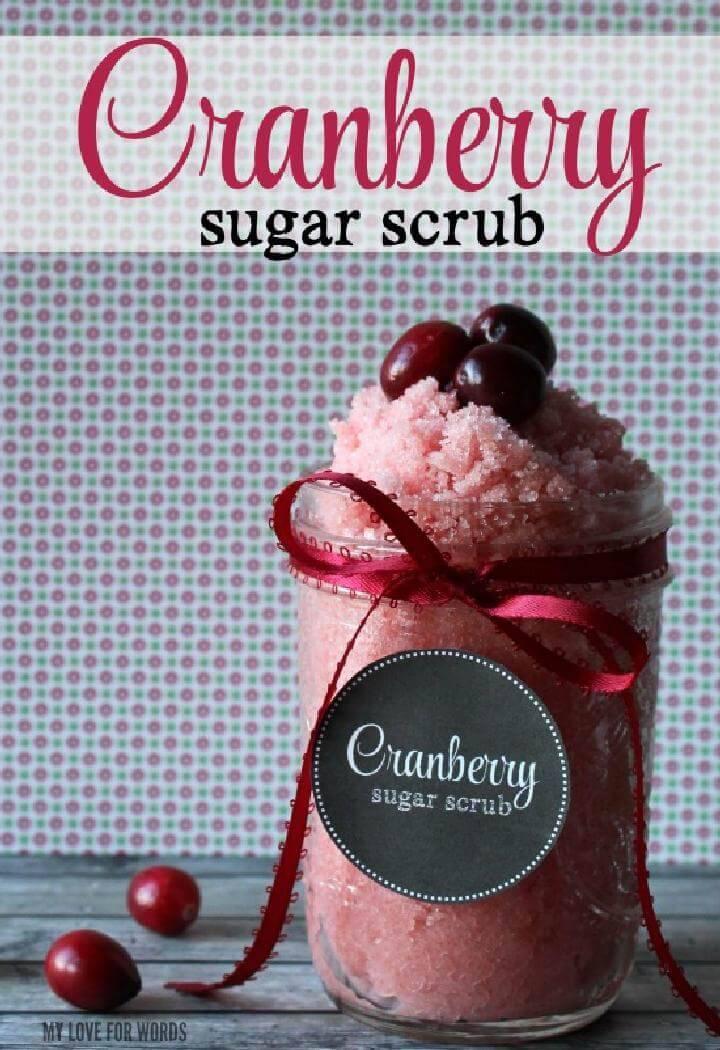 Homemade Cranberry Sugar Scrub