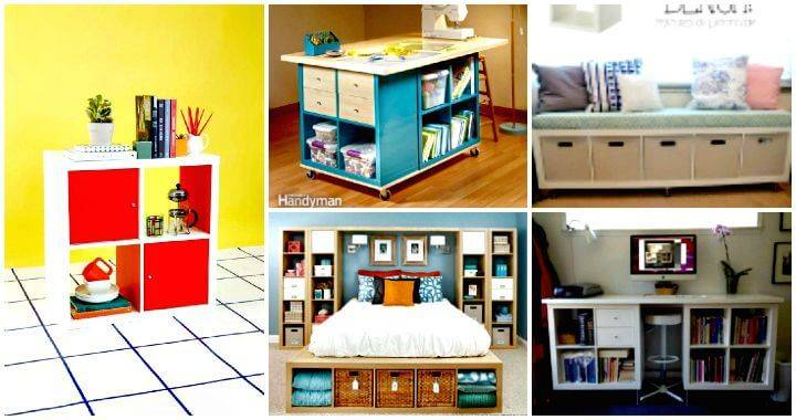 60 Ikea Kallax Shelf Hacks Or Diy Expedit Shelf Diy Crafts