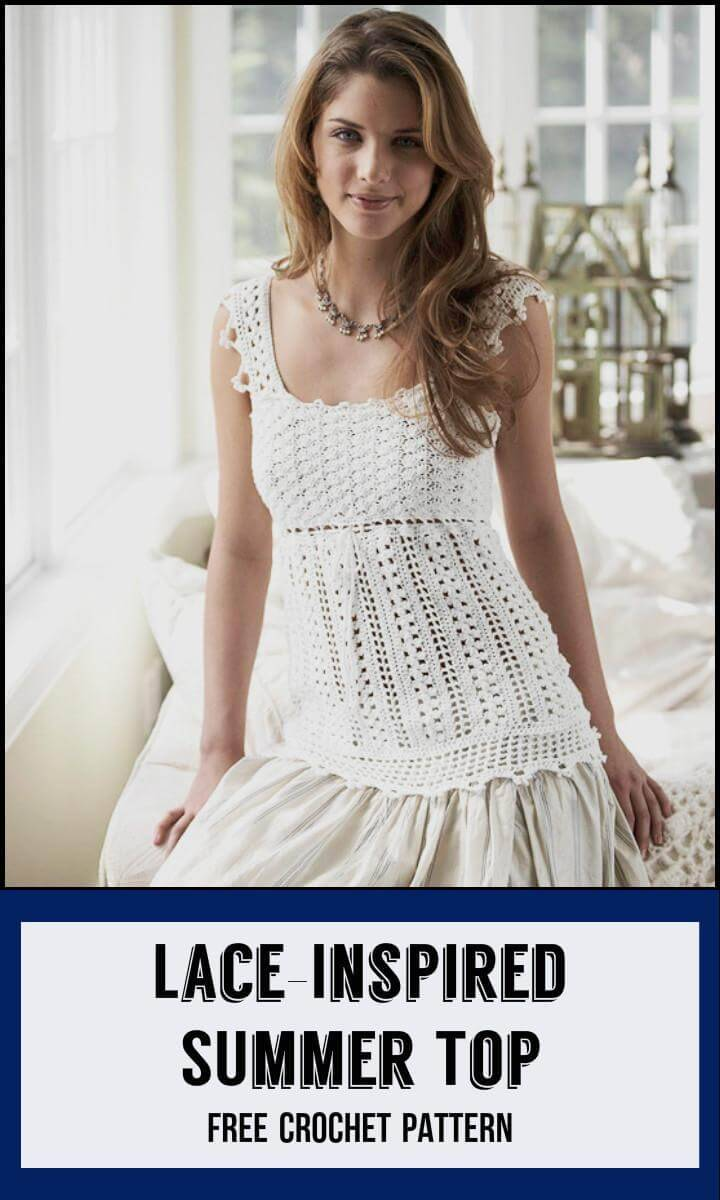 Lace-Inspired SUmmer Top Free Crochet Pattern
