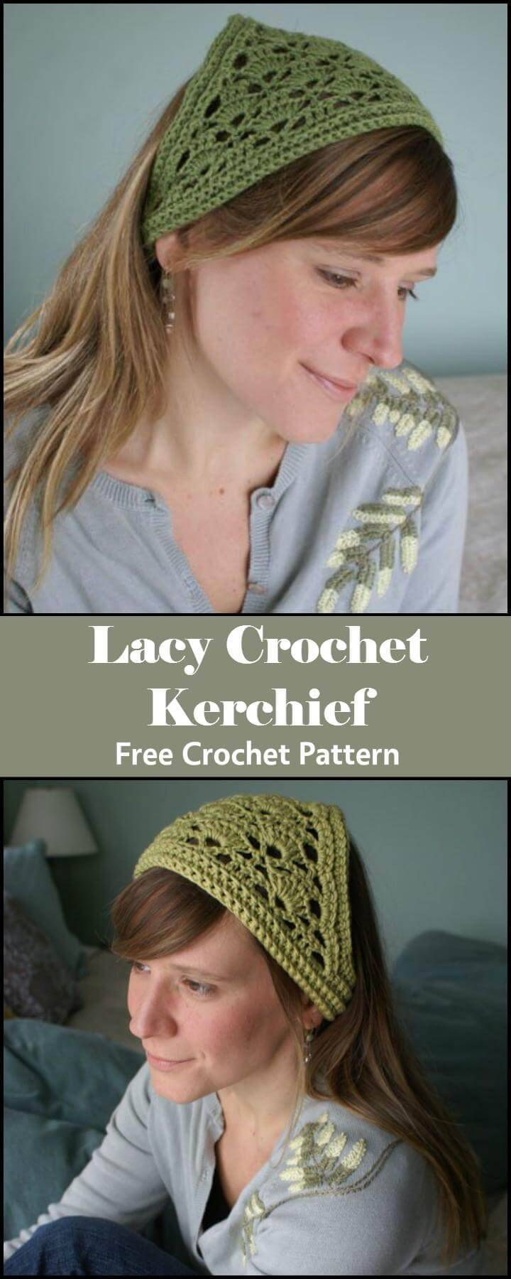 Lacy Crochet Kerchief Free Crochet Pattern