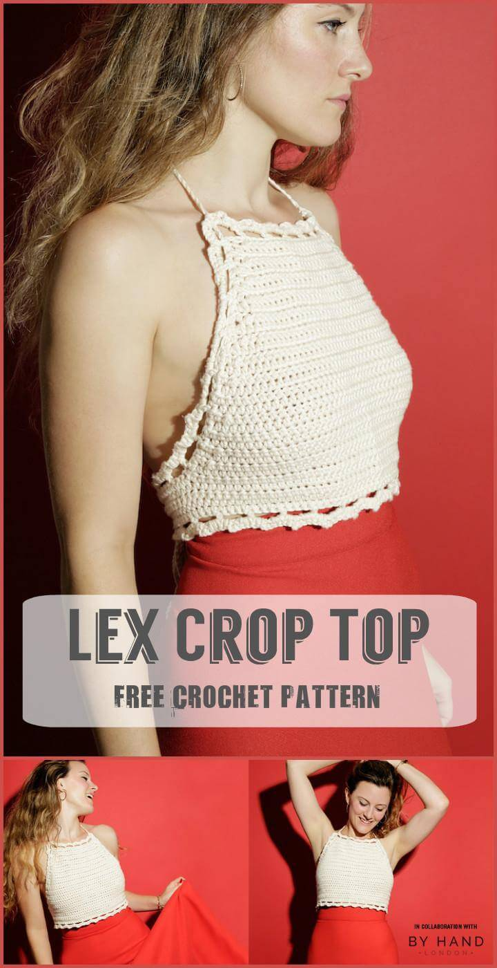 Lex Crop Top Free Crochet Pattern