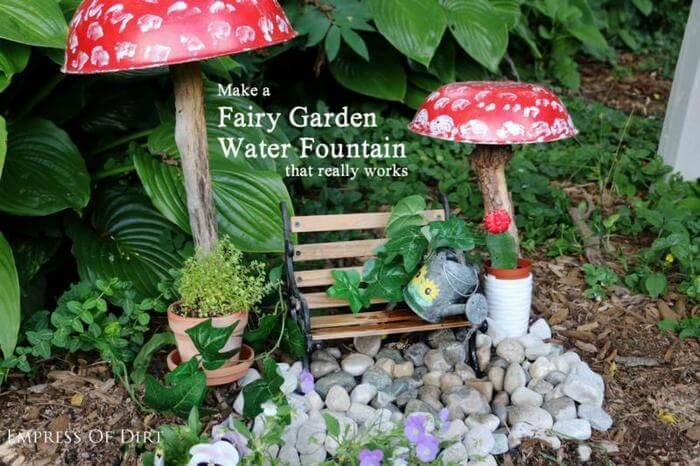 Make a DIY Fairy Garden Water Fountain That Really Works