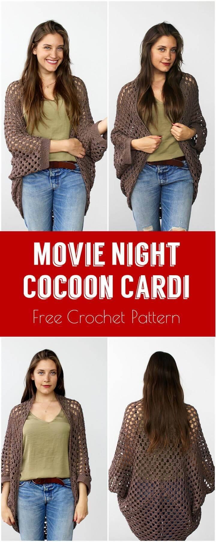 Movie Night Cocoon CMovie Night Cocoon Cardi Free Crochet Patternardi Free Crochet Pattern