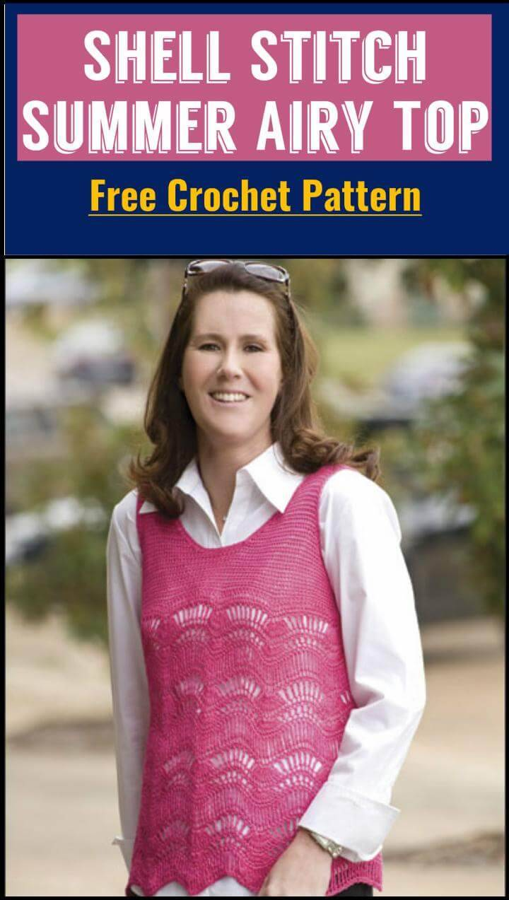 Shell Stitch Summer Airy Top Free Crochet Pattern