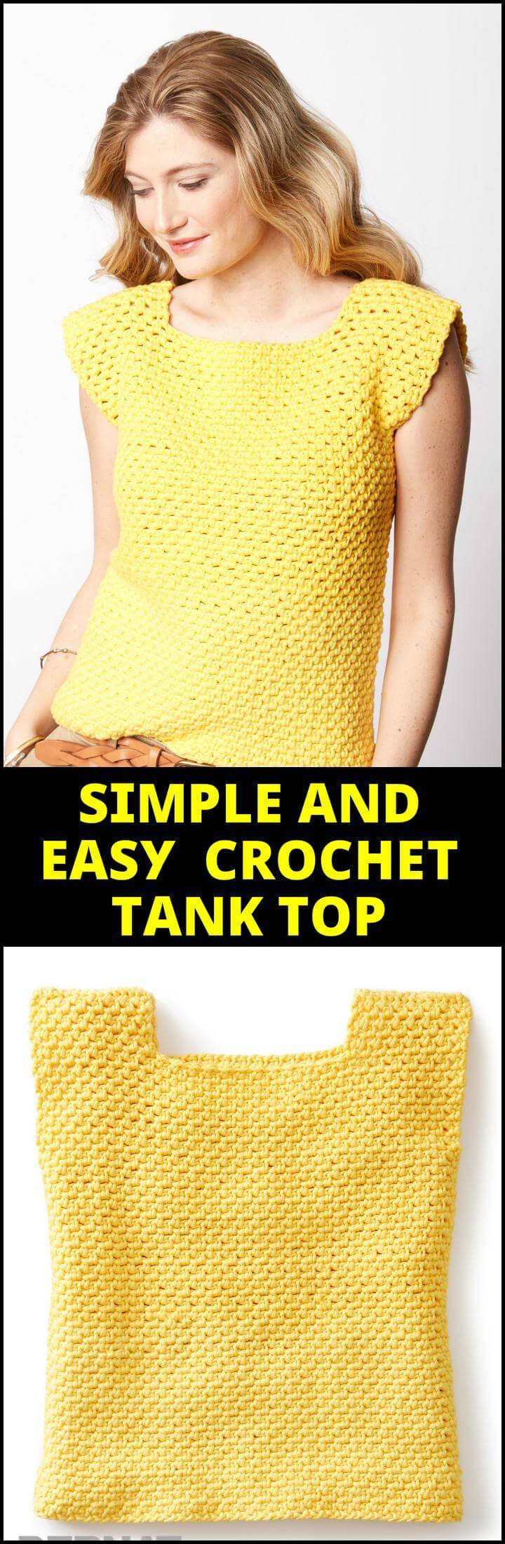 Simple and Easy Crochet Tank Top