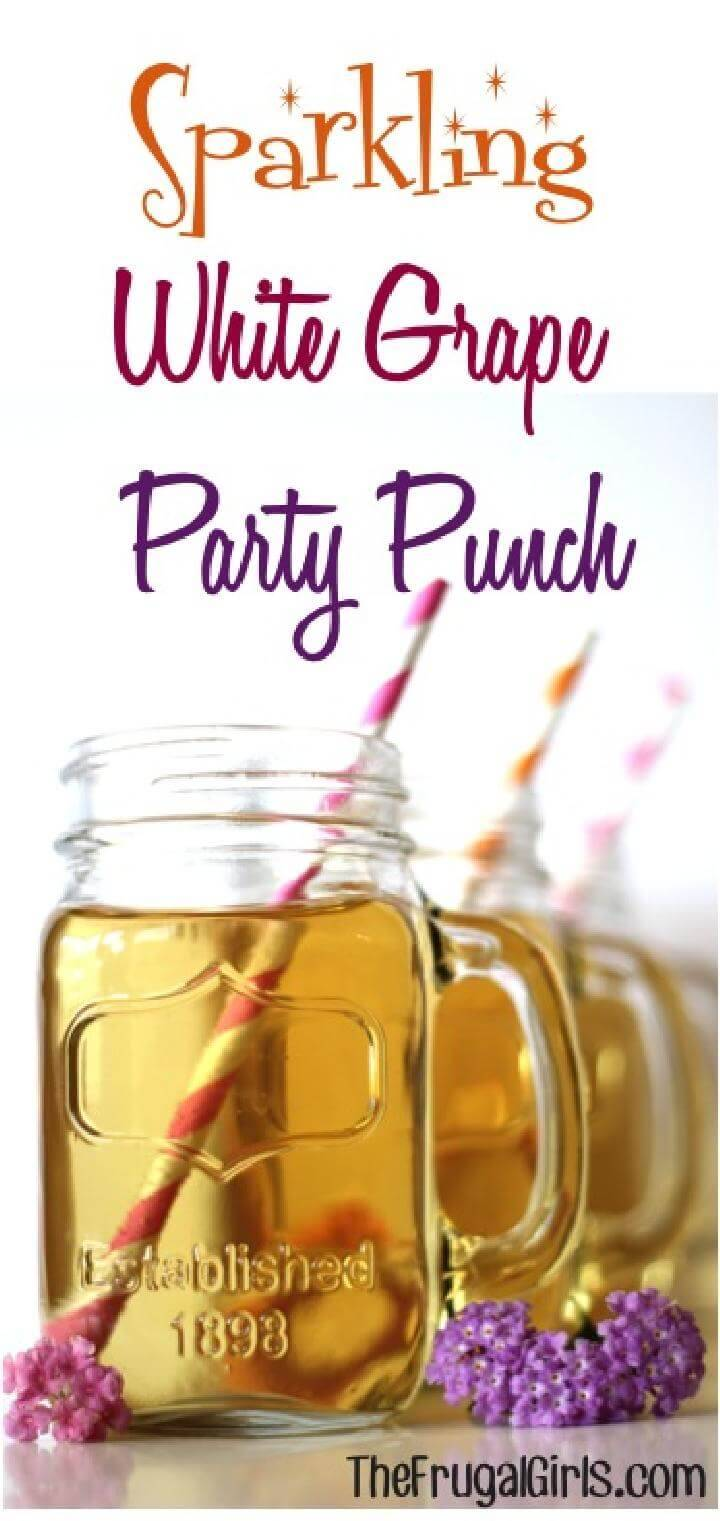 Sparkling White Grape Party Punch Free Recipe