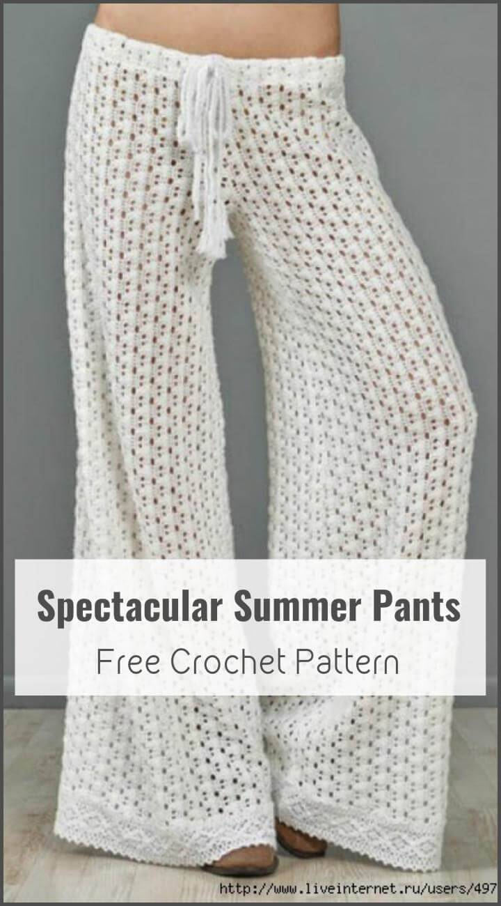Spectacular Summer Pants Free Crochet Pattern