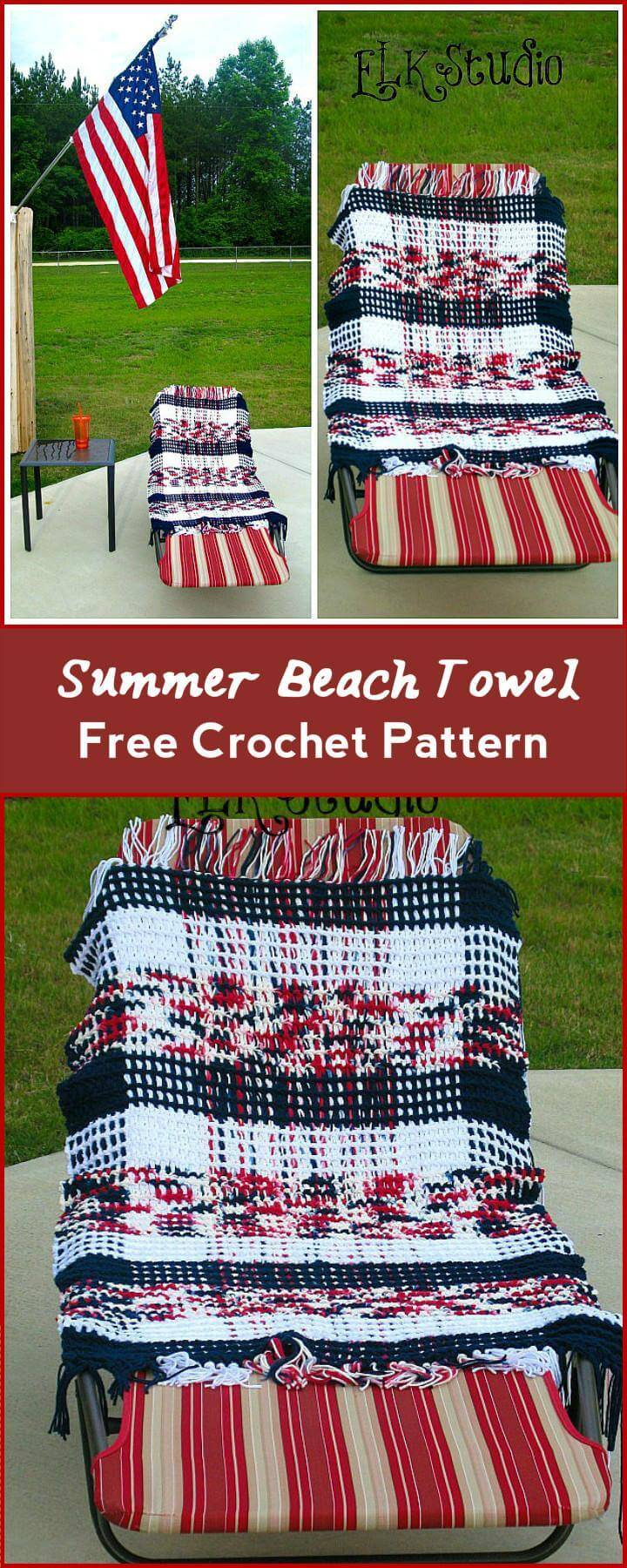 Summer Beach Towel Free Crochet Pattern