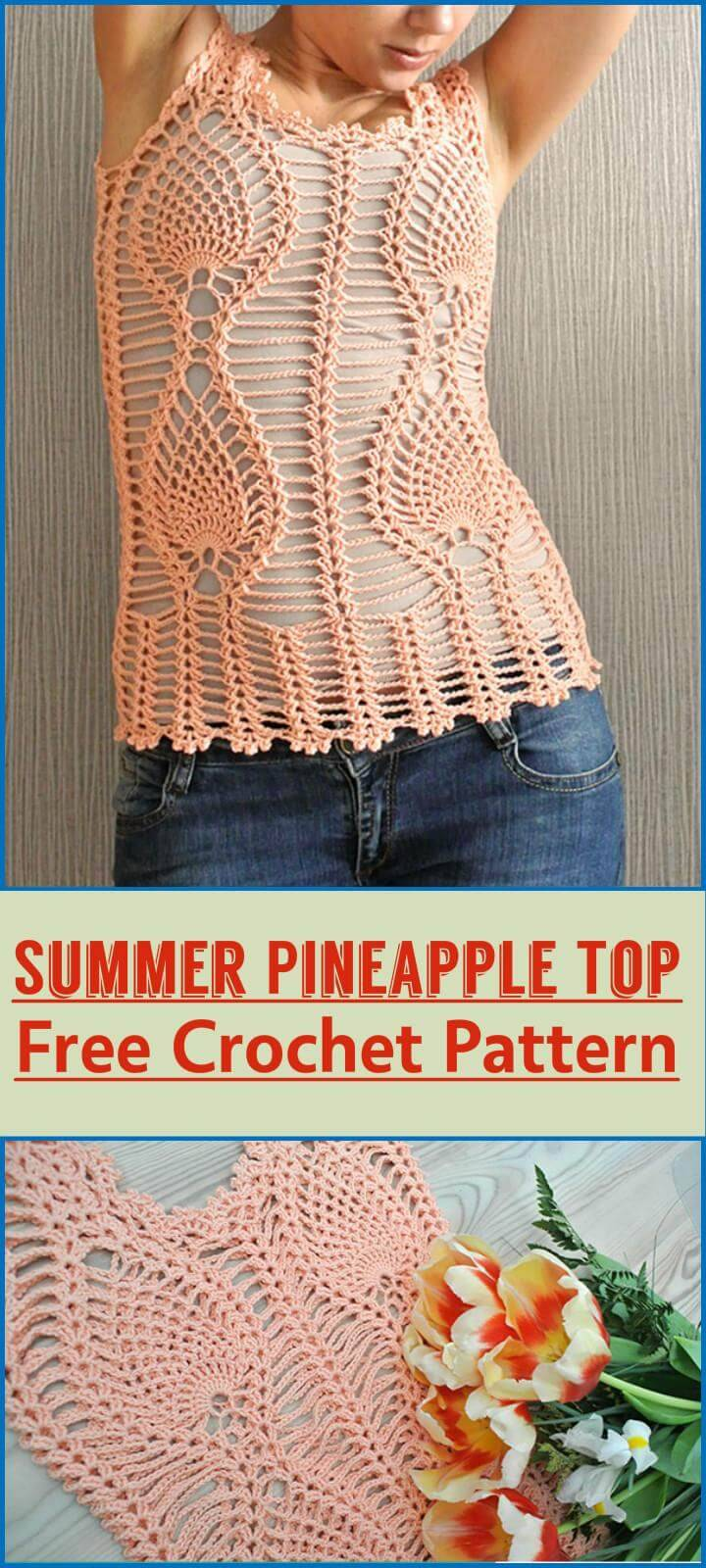 Summer Pineapple Top Free Crochet Pattern