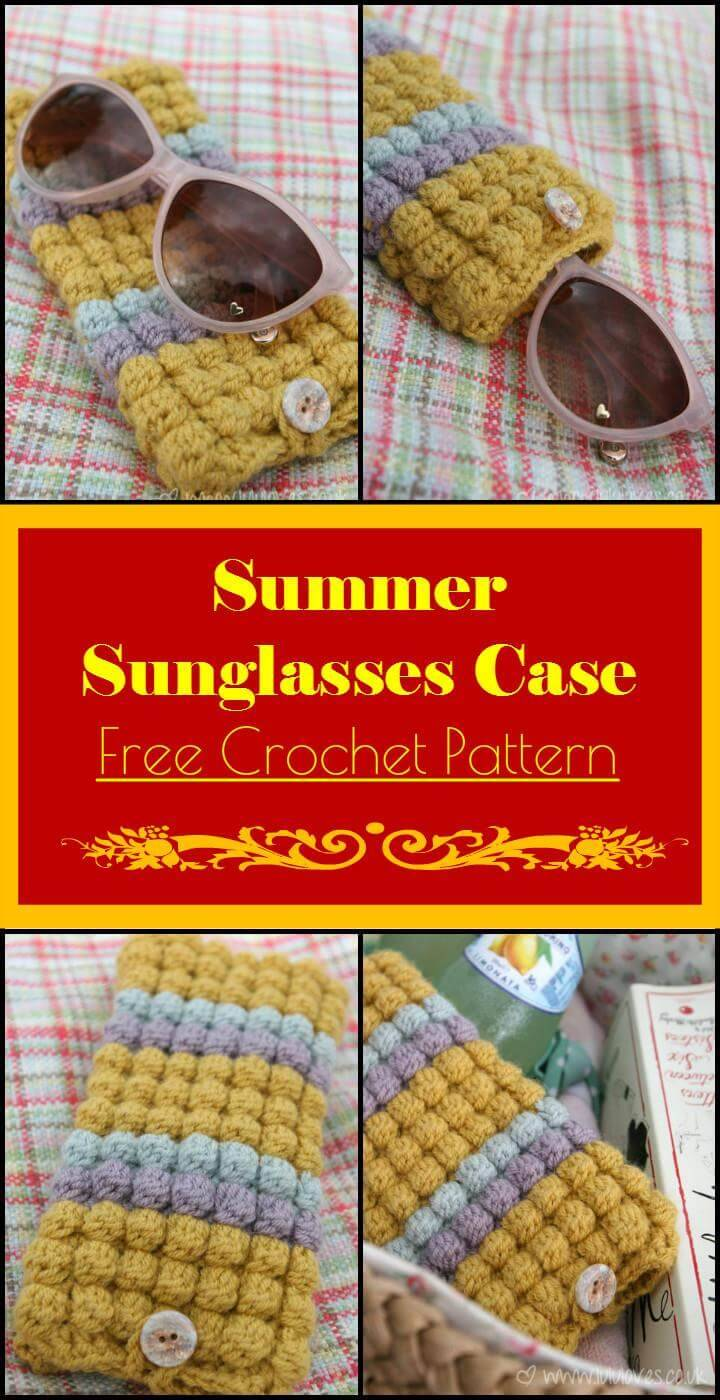 Summer Sunglasses Case Free Crochet Pattern
