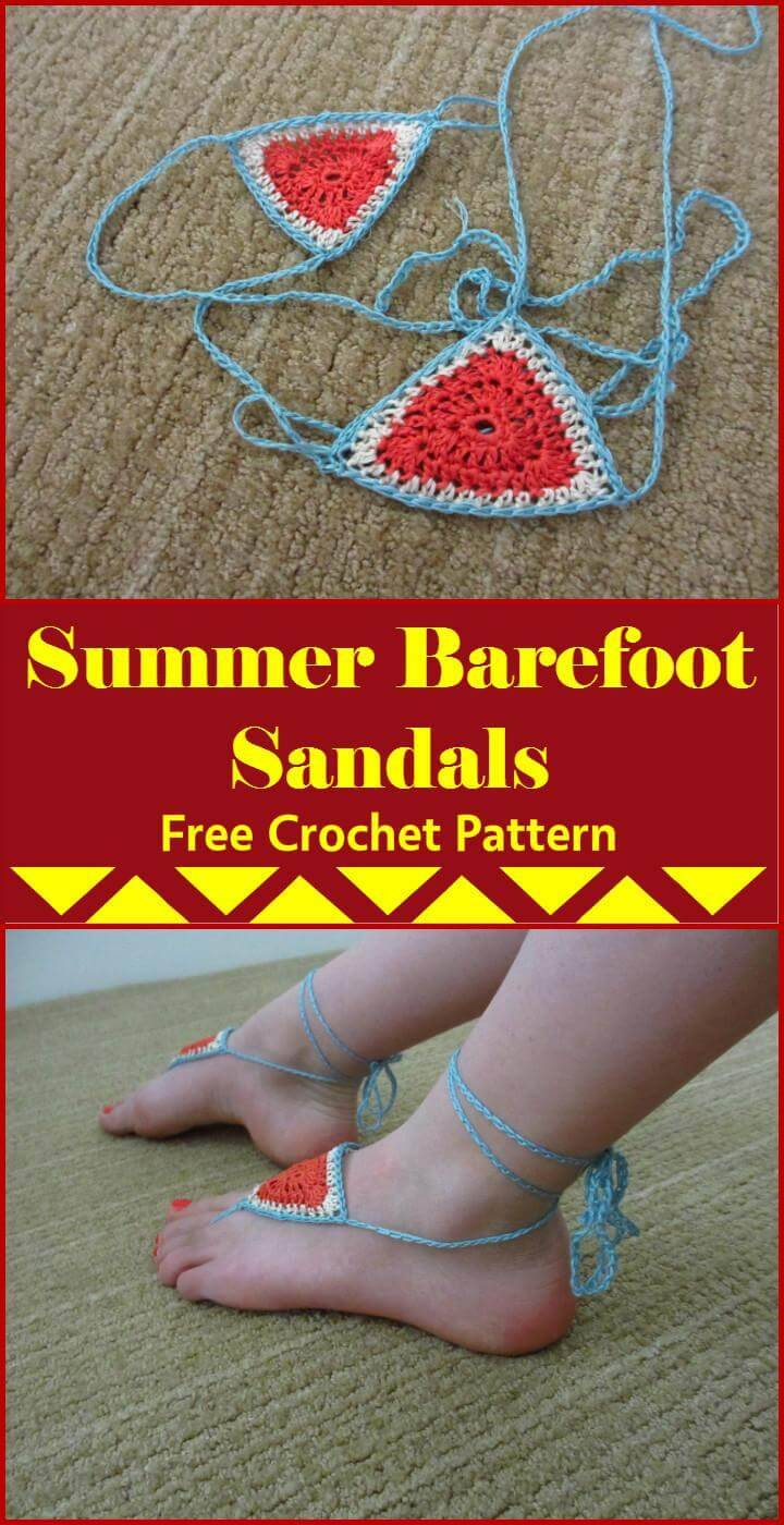 96215ec09 Super Easy Summer Barefoot Sandals  Summer Barefoot Sandals Free Crochet  Pattern