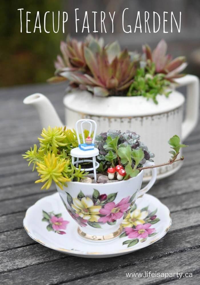 Teacup DIY Fairy Garden