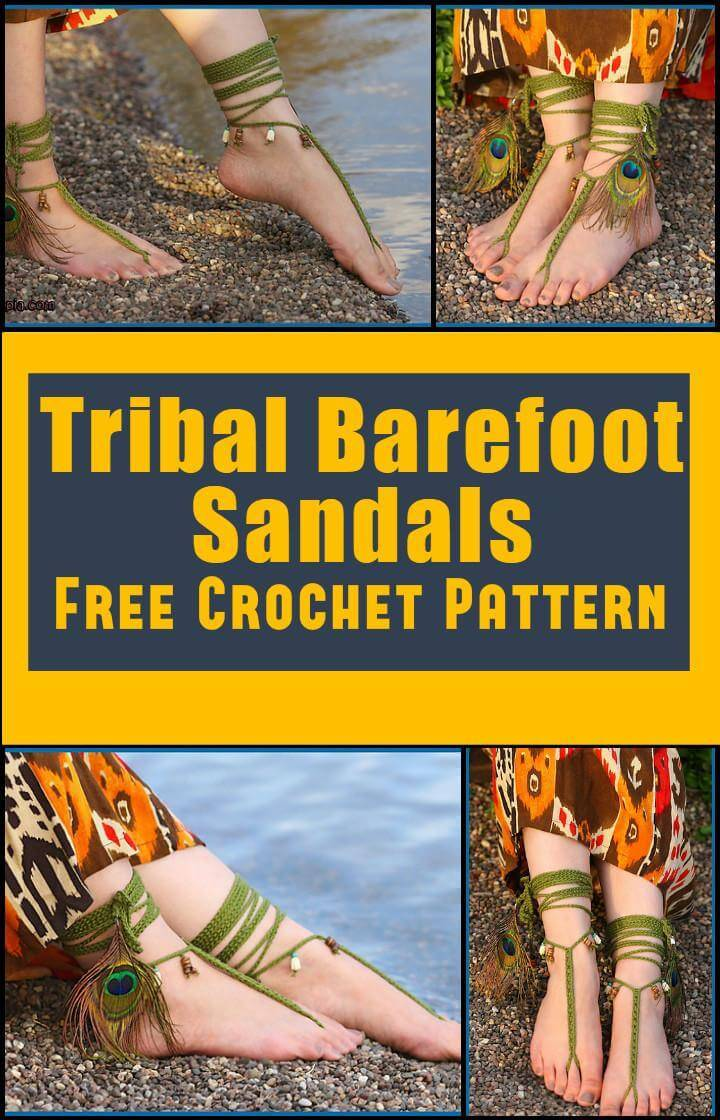 Tribal Barefoot Sandals Free Crochet Pattern