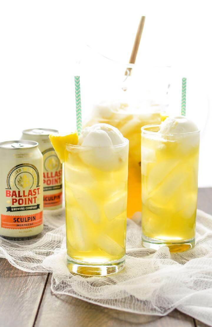 Tropical Pineapple Beer Party Punch Free Recipe