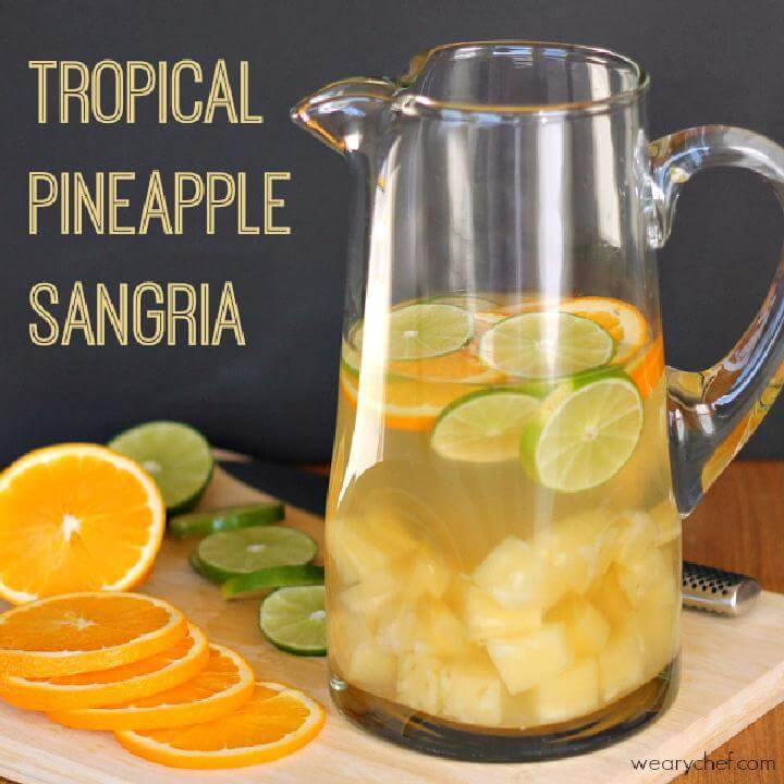 Tropical White Pineapple Sangria Party Punch Free Recipe