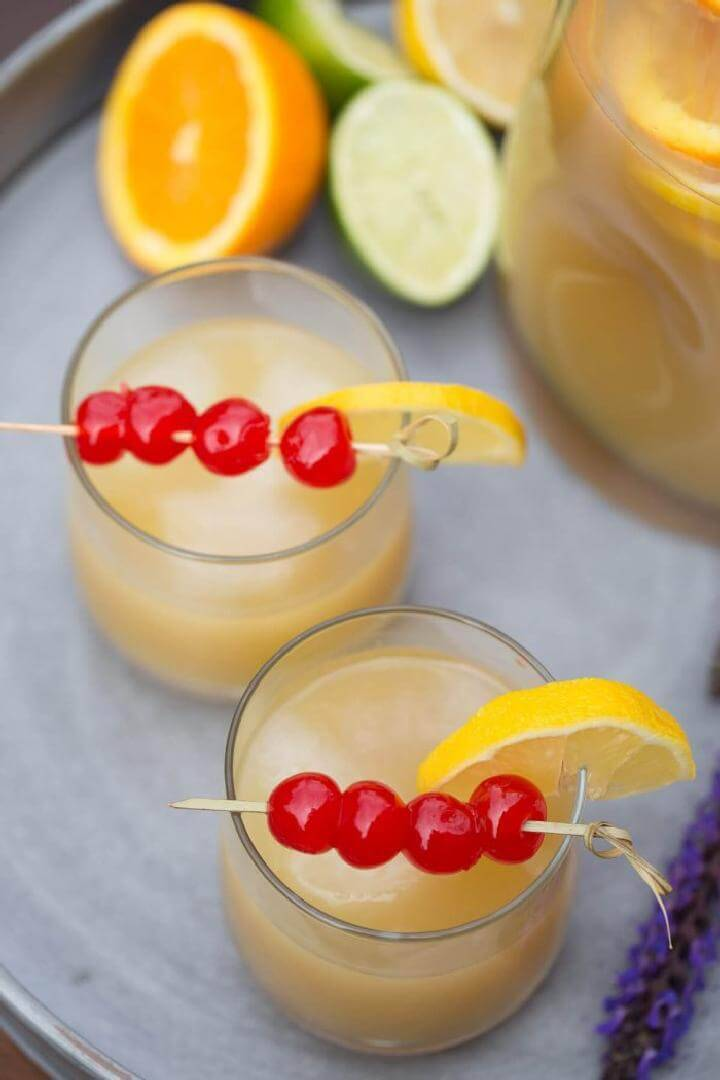 Whiskey Sour Party Punch Free Recipe