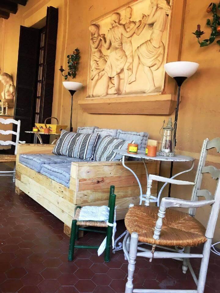 Hand Built Wooden Pallet Sofa