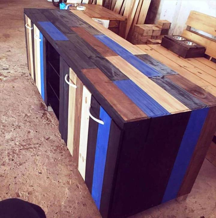 wooden pallet side board