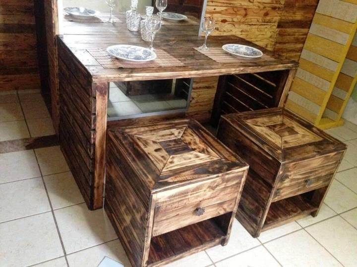 rustic pallet dining set
