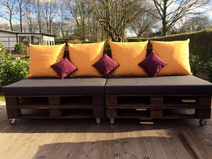 stylish pallet sofa