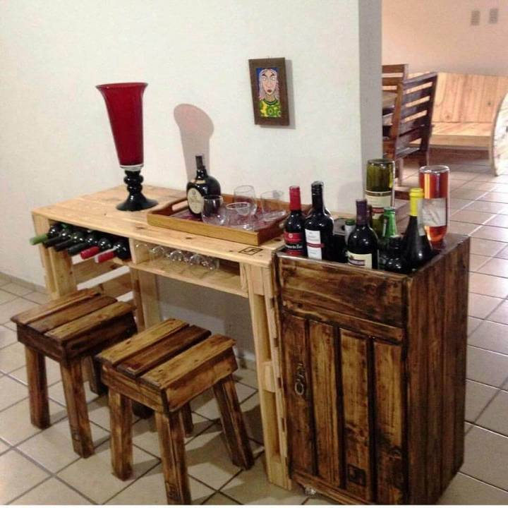 complete pallet made bar set
