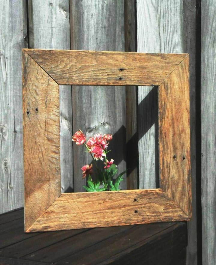 wooden pallet made frame