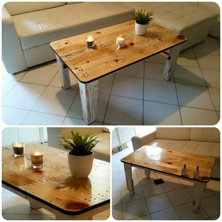 diy sleek pallet coffee table