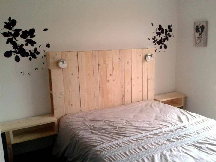 wooden pallet headboard piece