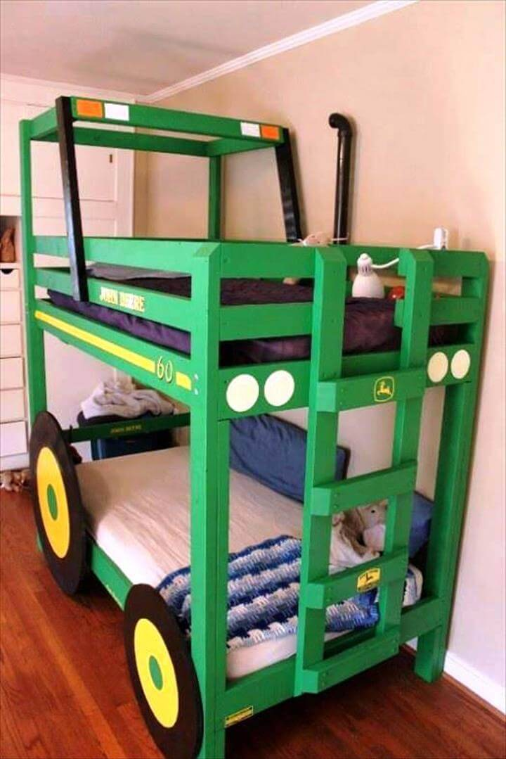 awesome pallet bunk bed idea from pallets