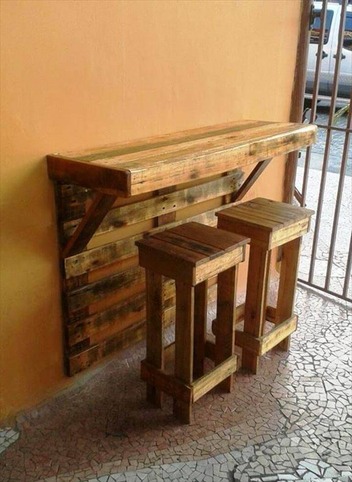 smartly build bar with stool