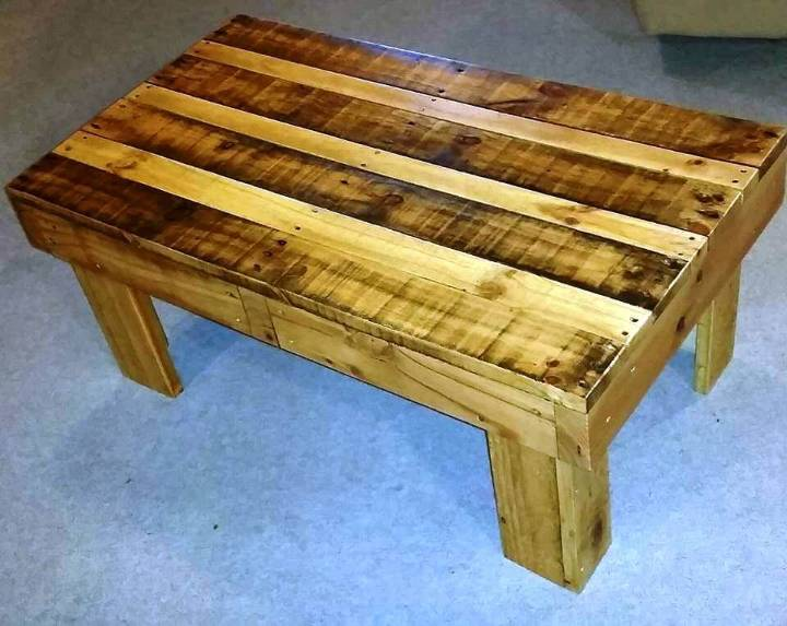 sleek pallet coffee table