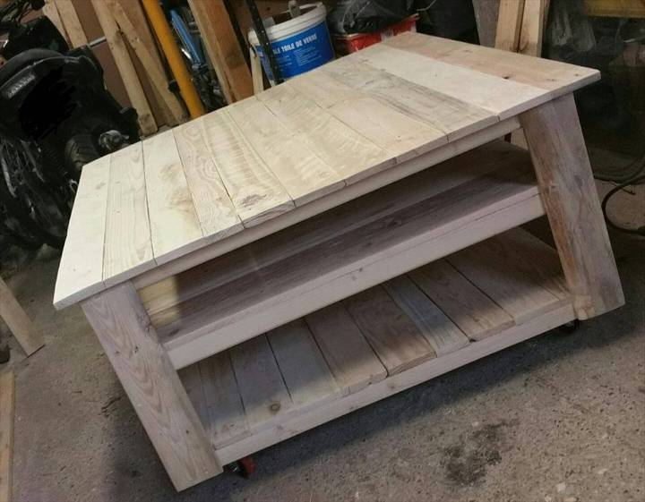 hand-built pallet square coffee table