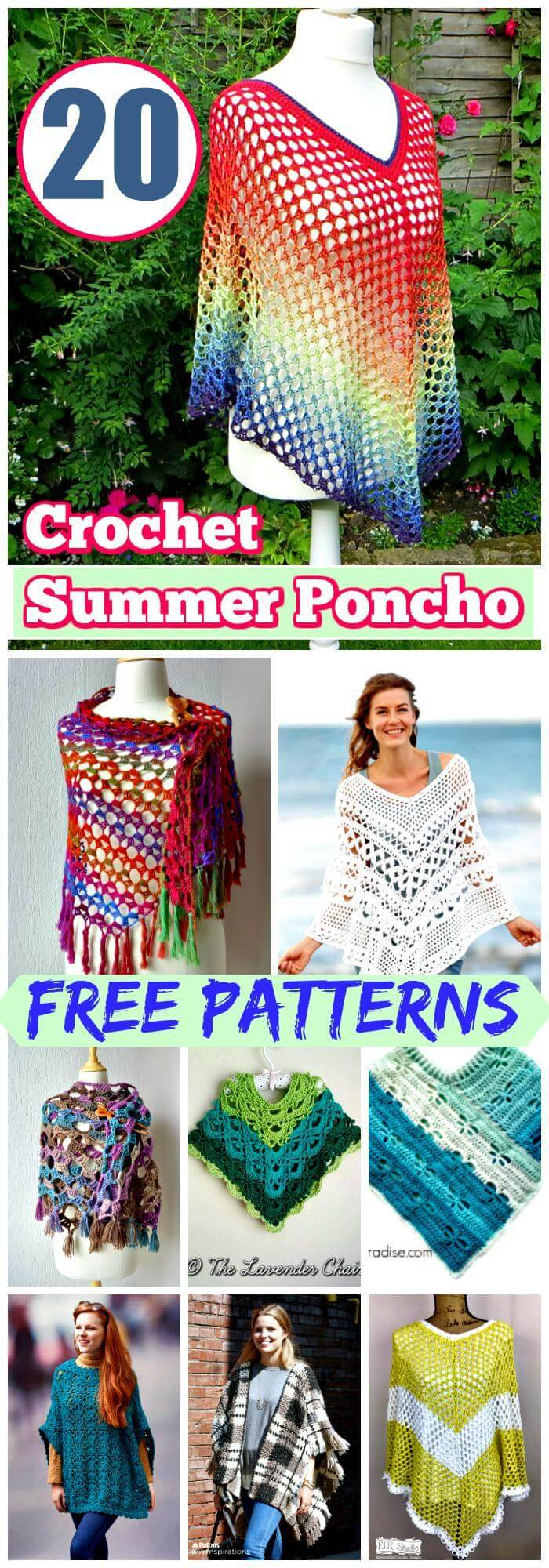 20 Free Crochet Summer Poncho Patterns For Womens Diy Crafts
