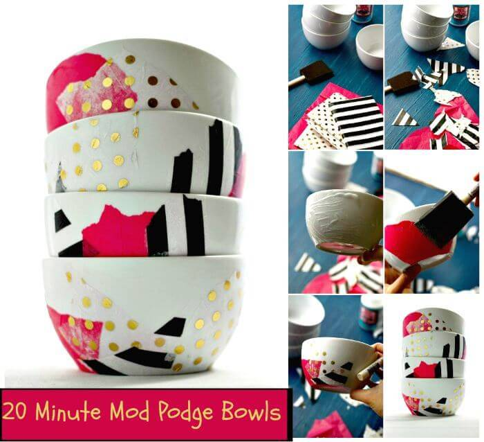 20 Minute Mod Podge Bowls