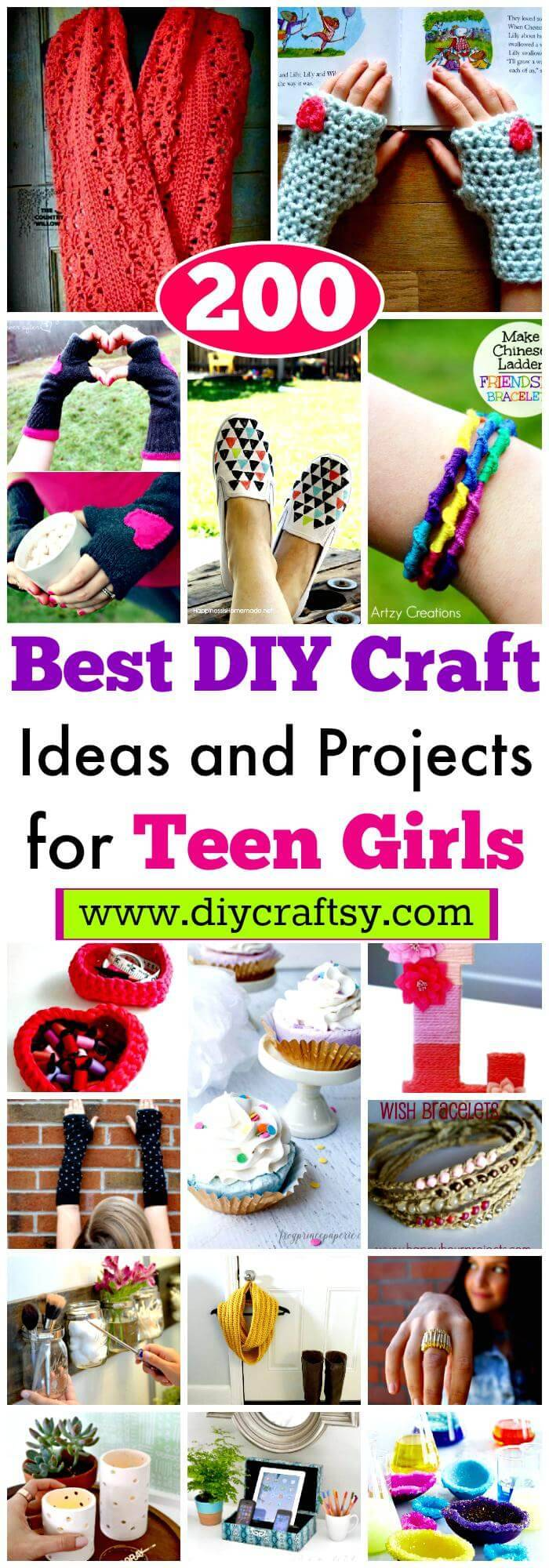200 Best Diy Craft Ideas And Projects For Teen Girls Diy Crafts