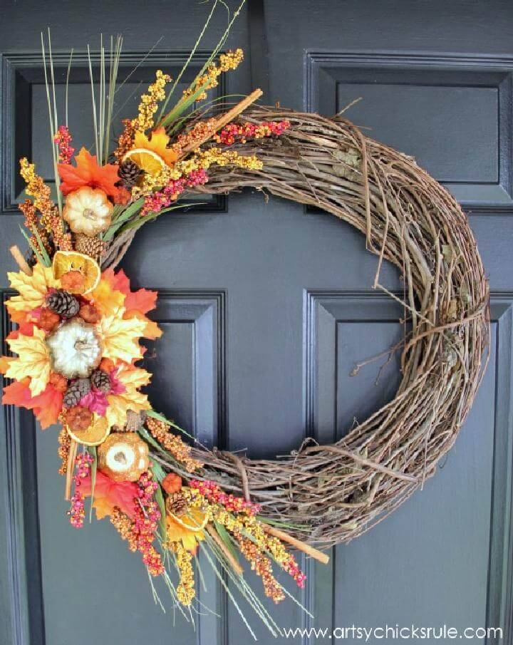 Beautiful DIY Fall Wreath