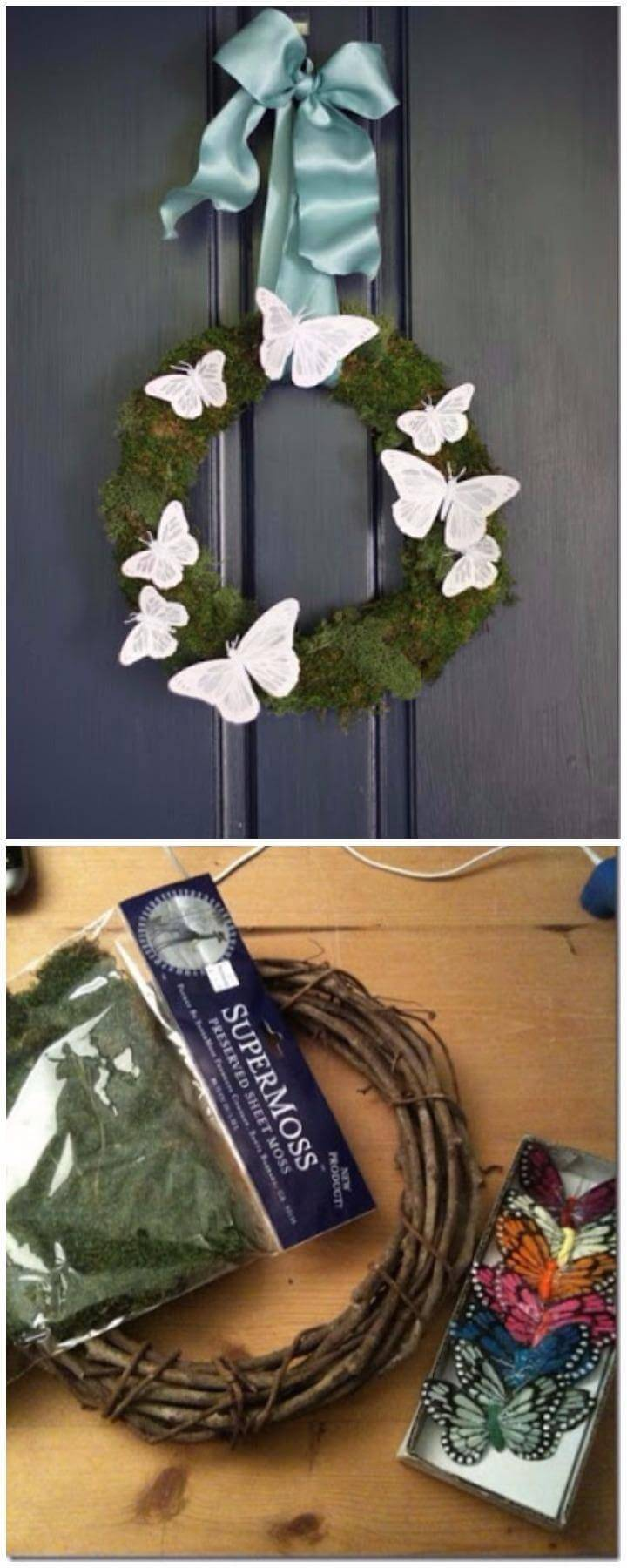 Beautiful Pottery Barn Inspired Butterfly Handmade Wreath