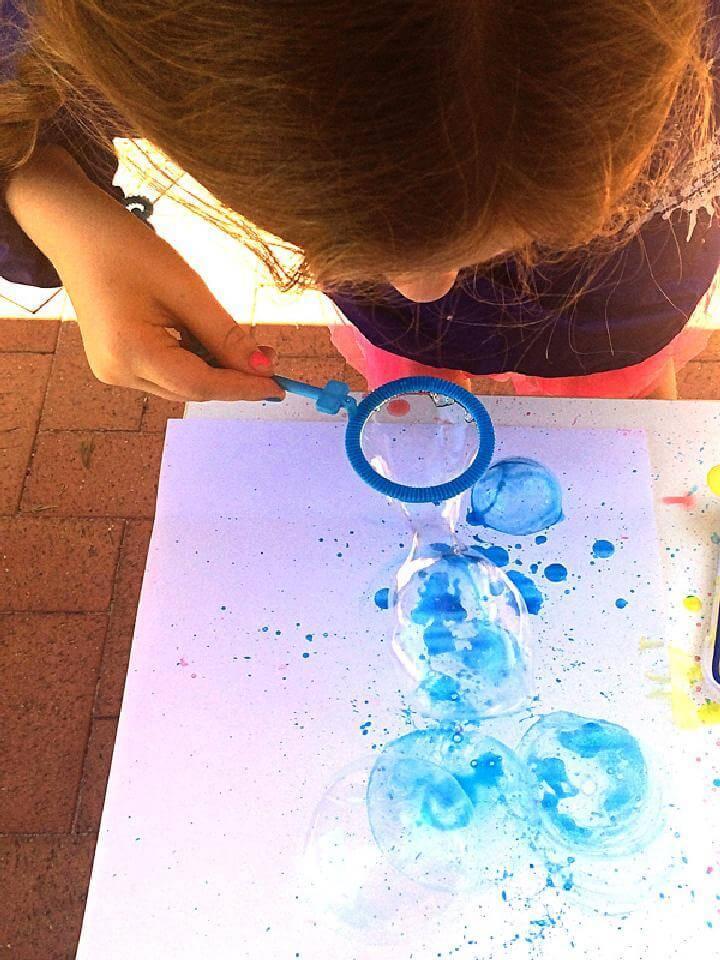 Brilliant Bubble Painting