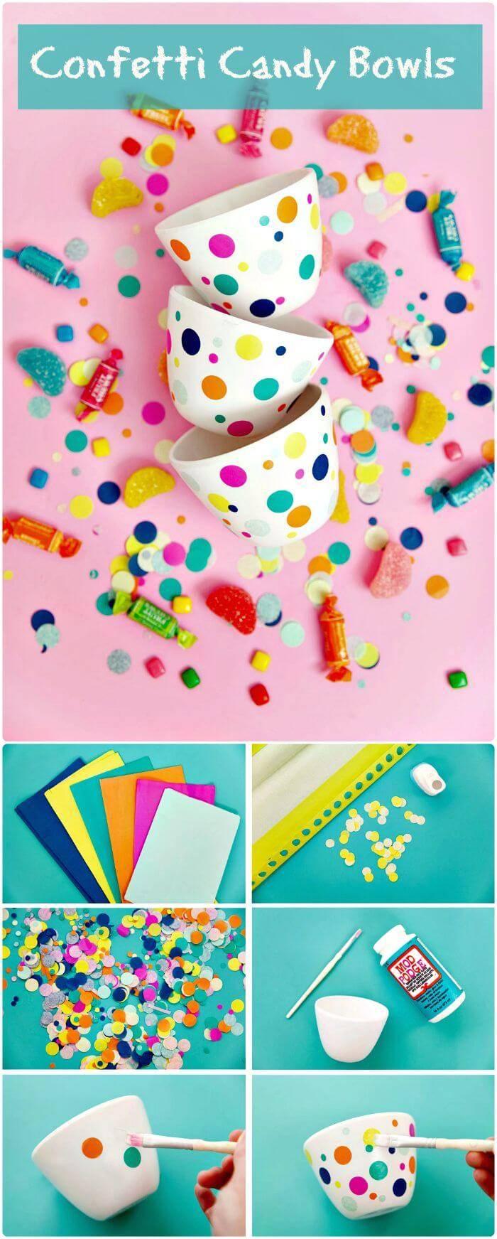 Confetti Candy Bowls
