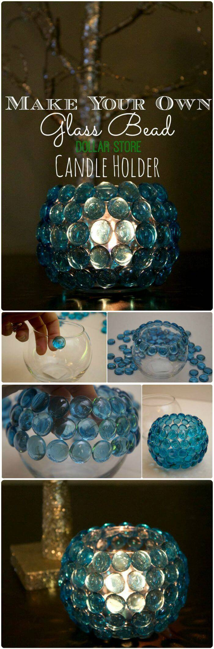 Creative Glass Bead Vase