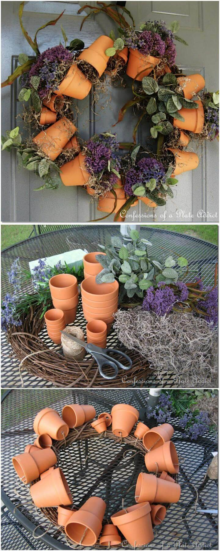 DIY Adorable Flower Pot Wreath