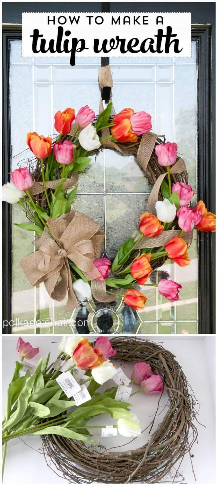 DIY Adorable Tulip Wreath Tutorial