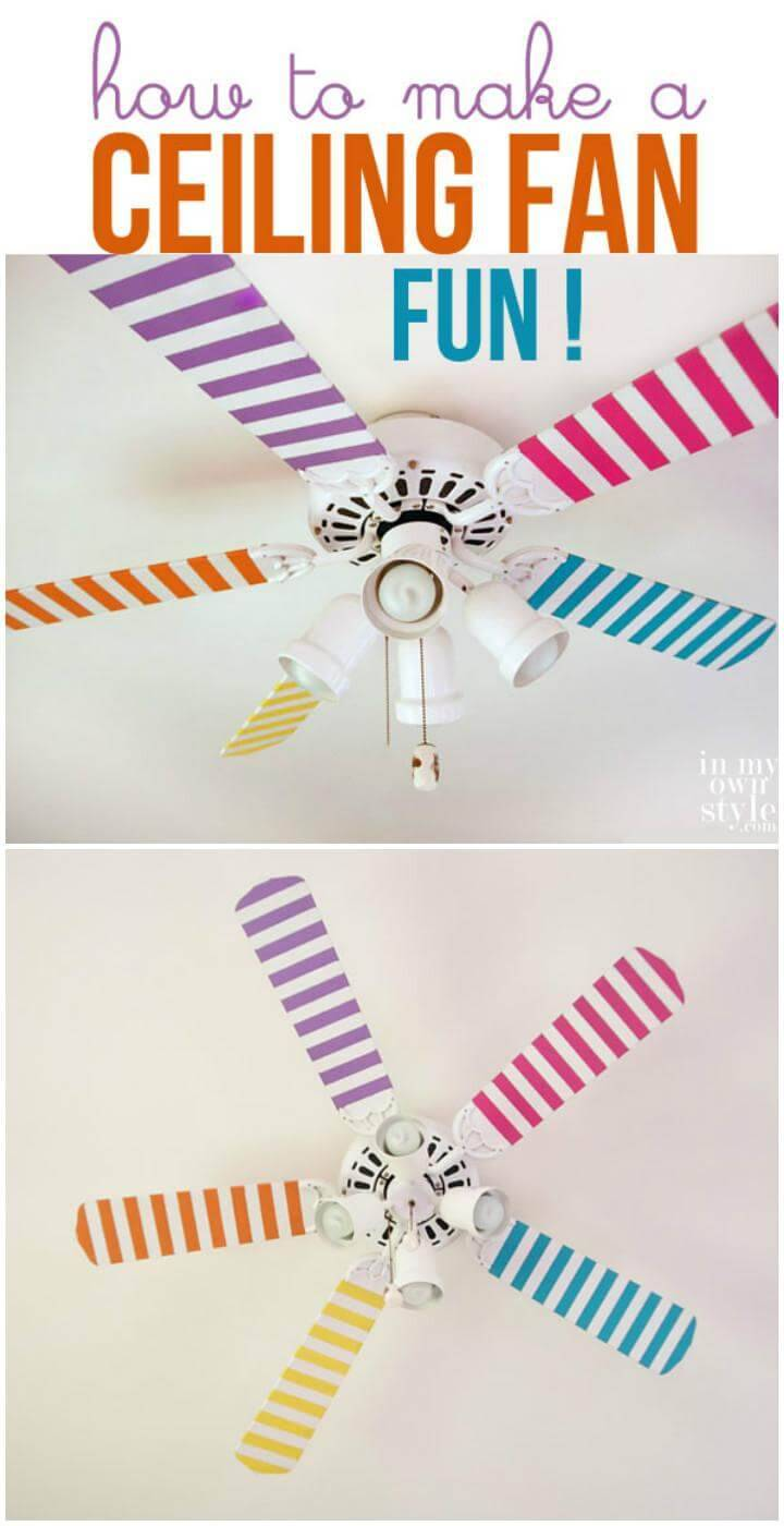DIY Amazing Ceiling Fan Painting