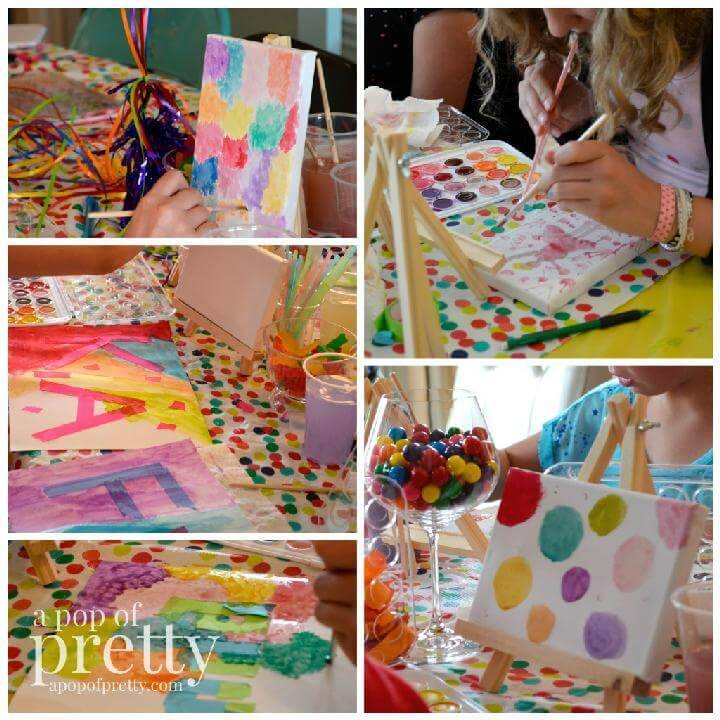 DIY Art Theme Party For Teen or Tween Girls