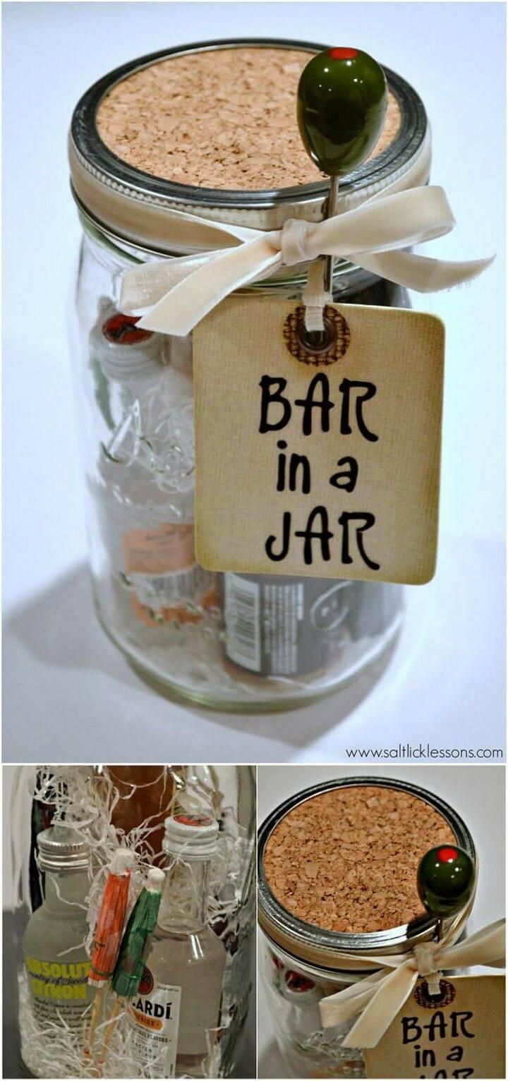 DIY Bar in Mason Jar Gift