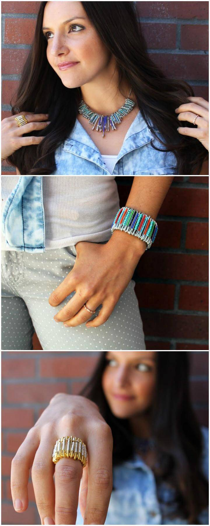 DIY Beaded Safety Pins Jewelry