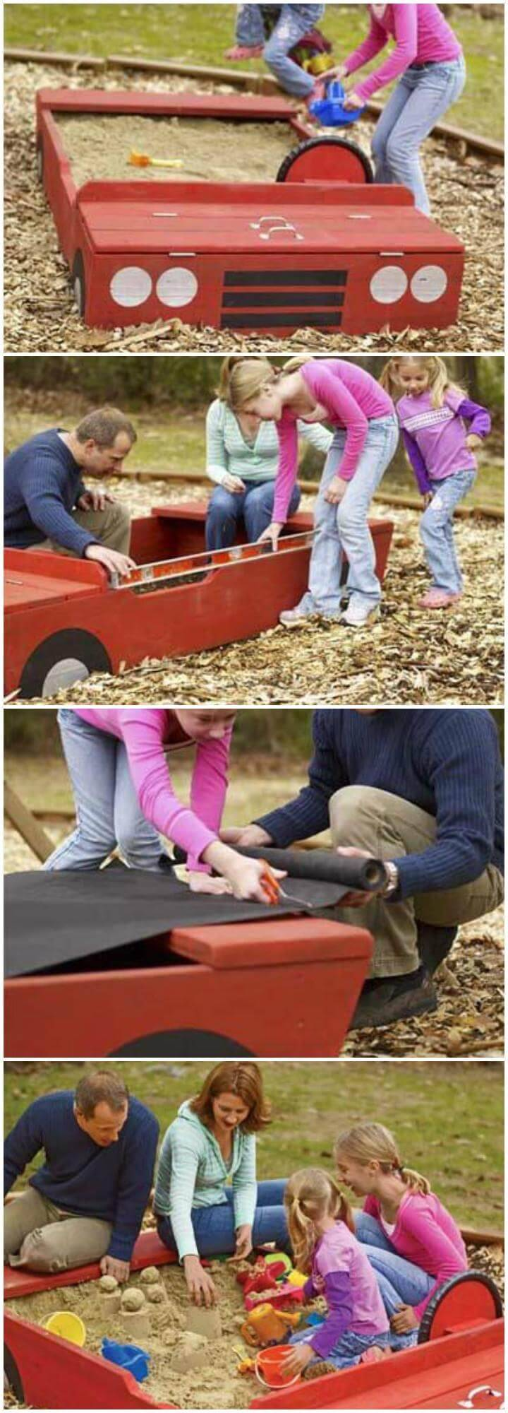 DIY Beautiful Car Sandbox