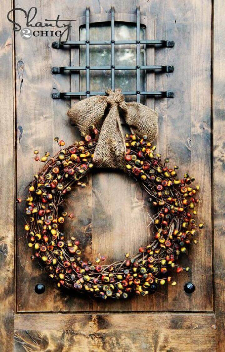 DIY Beautiful Fall Wreath