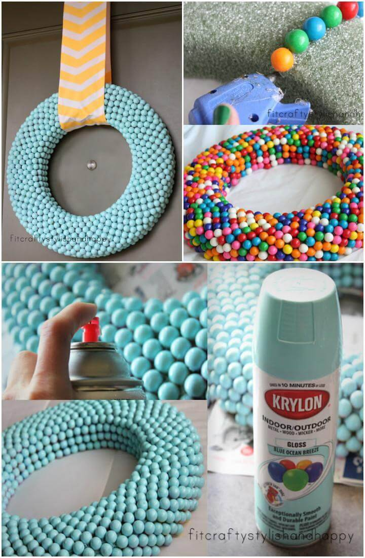 DIY Beautiful Gumball Wreath